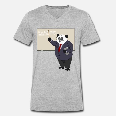 Panda Bear Panda panda bear teacher - Men's Organic V-Neck T-Shirt by Stanley & Stella