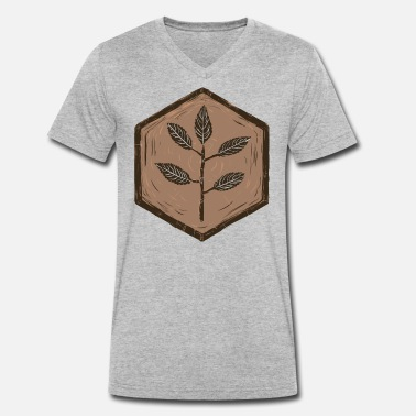Protective Glasses Beech / wood / glass / cross section - Men's Organic V-Neck T-Shirt by Stanley & Stella