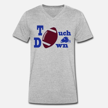 Touch Down Touch Down American Football - Men's Organic V-Neck T-Shirt by Stanley & Stella