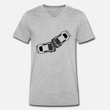 Licensed 2 cars accident crash total damage crushes dents b - Men's Organic V-Neck T-Shirt