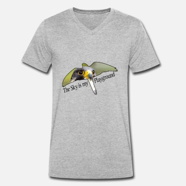Peregrine Sky is my playground. Peregrine falcon. - Men's Organic V-Neck T-Shirt