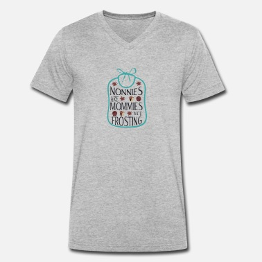 Frost Grandmothers are mothers with frosting - Men's Organic V-Neck T-Shirt