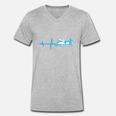 d10041dec0b245 Textildruck Geschenk heartbeat Textildruck - Männer Bio T-Shirt mit  V-Ausschnitt