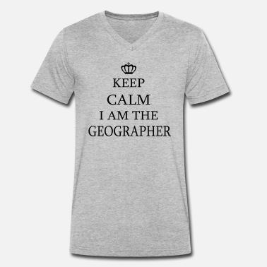 Geographic Geographer - Men's Organic V-Neck T-Shirt