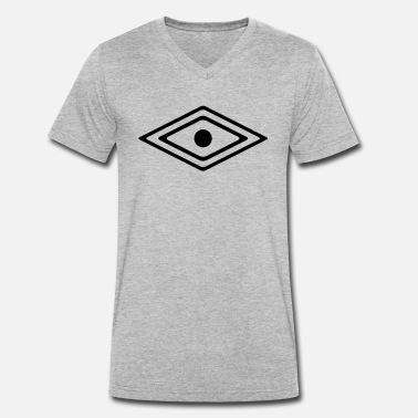 Medicine Symbol Eye of a Medicine Man Symbol, wisdom and awareness - Men's Organic V-Neck T-Shirt