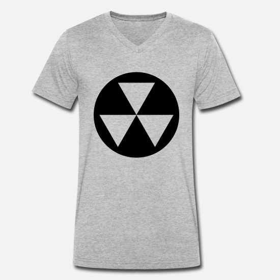 Shelter T-Shirts - Nuke - Men's Organic V-Neck T-Shirt heather grey