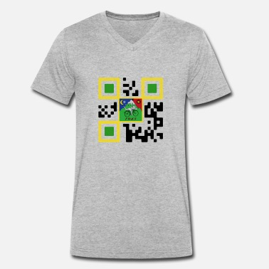 Qr QR LSD - Men's Organic V-Neck T-Shirt