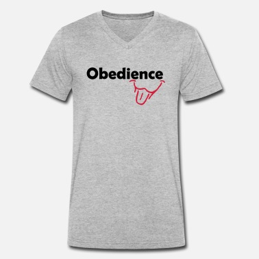 Obedience Obedience is Fun - Men's Organic V-Neck T-Shirt