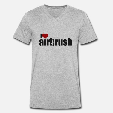 Airbrush I love airbrush - Men's Organic V-Neck T-Shirt by Stanley & Stella