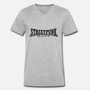 Streetpunk streetpunk the joy of oi! - Men's Organic V-Neck T-Shirt