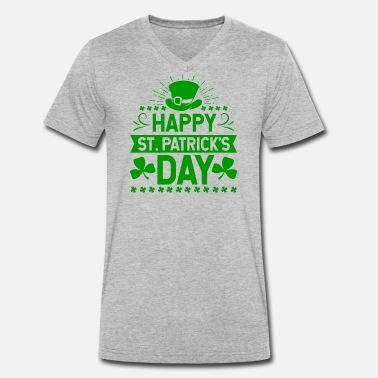 08b60f6e1 St Patricks Day Happy St. Patrick's Day Ireland holiday gift -. Men's  Organic V-Neck T-Shirt