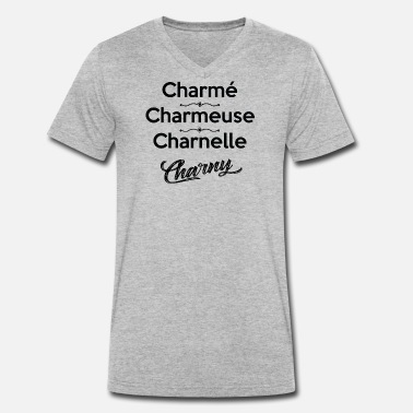 CHARMÉ CHARMEUSE CHARNELLE CHARNY - T-shirt bio col V Homme