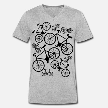 Bicycles Big and Small - Men's Organic V-Neck T-Shirt