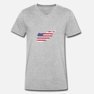 State Flag Flag of the United States of America - Men's Organic V-Neck T-Shirt by Stanley & Stella