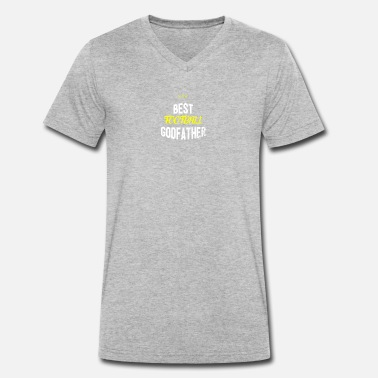 Best Football Distressed - BEST FOOTBALL GODFATHER - Männer Bio T-Shirt mit V-Ausschnitt