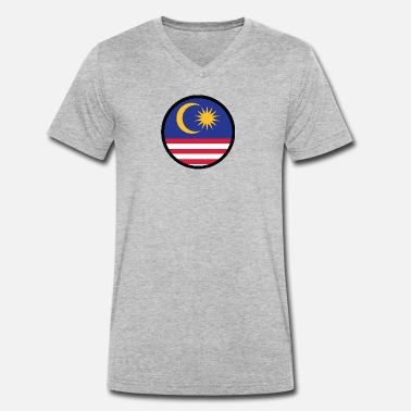 Malacca Marked By Malaysia - Men's Organic V-Neck T-Shirt by Stanley & Stella