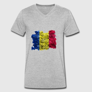 Chad vintage flag - Men's Organic V-Neck T-Shirt by Stanley & Stella