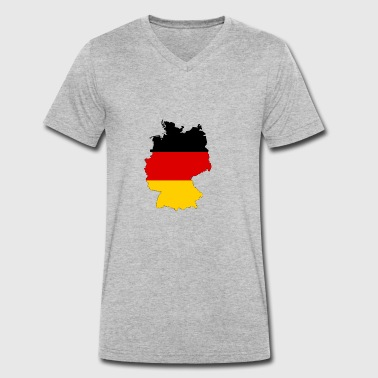 Germany with flag - Men's Organic V-Neck T-Shirt by Stanley & Stella
