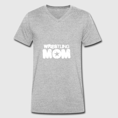 Wrestler wrestling wrestle mom mom gift - Men's Organic V-Neck T-Shirt by Stanley & Stella