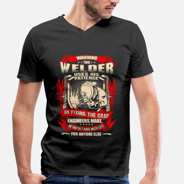 Service Welder Fixing Crap Engineers Make – EN - Men's Organic V-Neck T-Shirt
