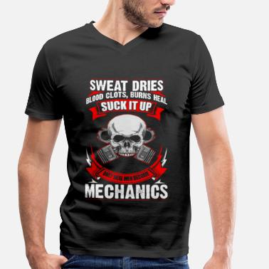 Dries Roelvink Mechanic Sweat Dries - EN - Mannen bio T-shirt met V-hals van Stanley & Stella