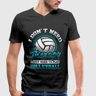 Volleyball - Therapy - Men's Organic V-Neck T-Shirt by Stanley & Stella