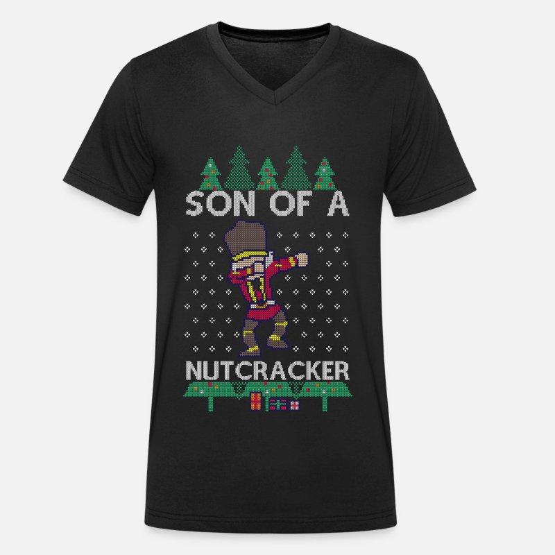 Dabbing Son Of A Nutcracker Ugly Christmas Sweater T Shirt Bio Col V