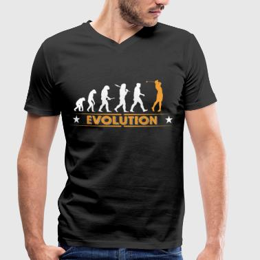 Golf Evolution - orange/weiss - Camiseta ecológica hombre con cuello de pico de Stanley & Stella