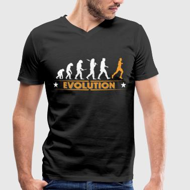 Evolution Running Running Evolution - orange/weiss - T-shirt bio col V Stanley & Stella Homme