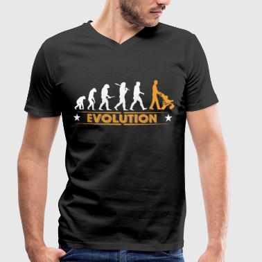 Walking Dad - Evolution - T-shirt bio col V Stanley & Stella Homme