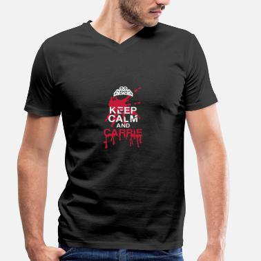 Calm Keep calm - Men's Organic V-Neck T-Shirt by Stanley & Stella