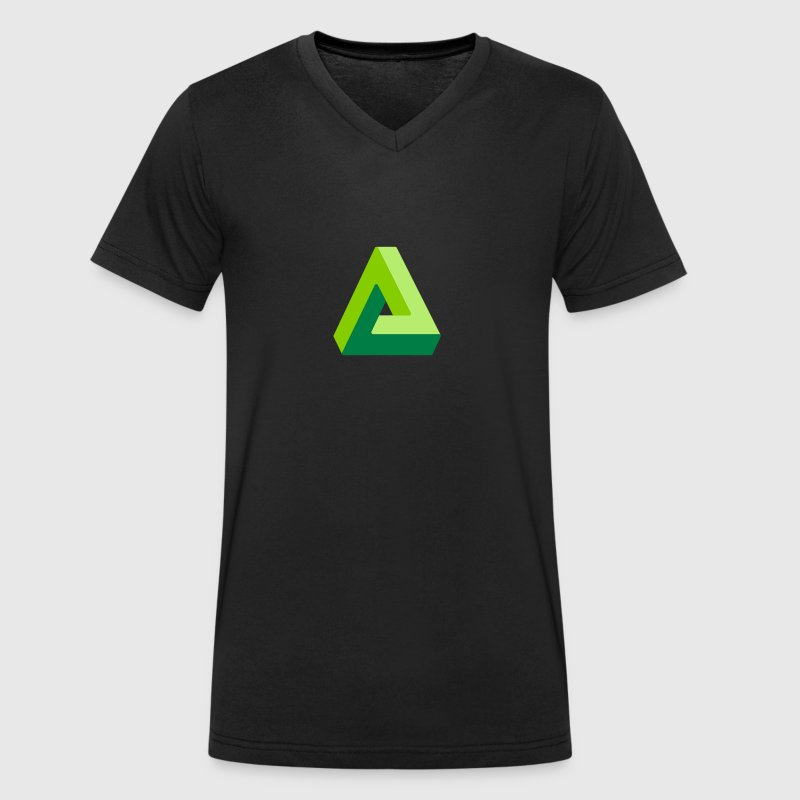 triangle optical illusion - Men's Organic V-Neck T-Shirt by Stanley & Stella