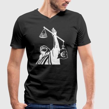 Class Struggle Injustice class struggle redistribution finances - Men's Organic V-Neck T-Shirt by Stanley & Stella