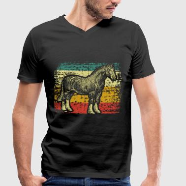 Clydesdale horse horse - Men's Organic V-Neck T-Shirt by Stanley & Stella