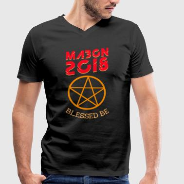 Equinox Mabon 2018 blessed witch autumn equinox poison - Men's Organic V-Neck T-Shirt by Stanley & Stella