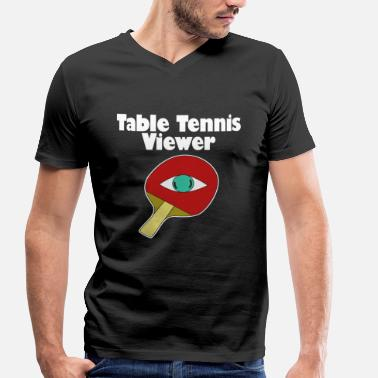 Table De Ping-pong Ping-pong tennis de table ping-pong table de ping-pong - T-shirt bio col V Stanley & Stella Homme