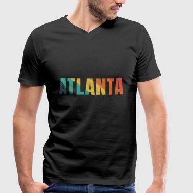 Trendy City Atlanta city Atlanta city - Men's Organic V-Neck T-Shirt by Stanley & Stella