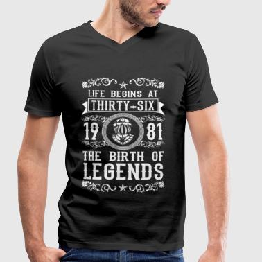 1981 - 36 years - Legends - 2017 - Men's Organic V-Neck T-Shirt by Stanley & Stella