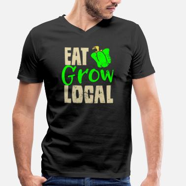 Organic Farming Organic Farming Eating Growing Local Farmers Gift - Men's Organic V-Neck T-Shirt by Stanley & Stella