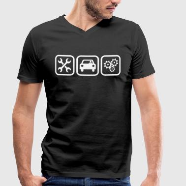 Mechanical Engineering Industry Engine Mechanic - Men's Organic V-Neck T-Shirt by Stanley & Stella