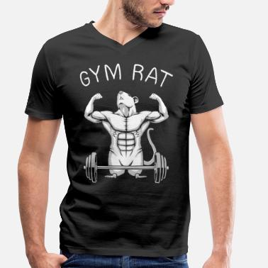 Gym Rats Gym Rat - Men's Organic V-Neck T-Shirt by Stanley & Stella