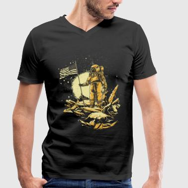 Space Flight Astronaut space space flight - Men's Organic V-Neck T-Shirt by Stanley & Stella