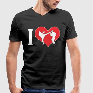 I Love Mma I LOVE MMA T-Shirt - Great gift for MMA fans - Men's Organic V-Neck T-Shirt by Stanley & Stella