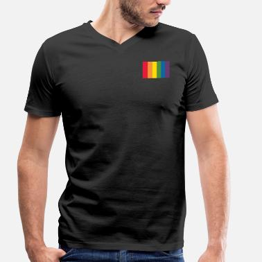 Black Pride Proud with Pride - Men's Organic V-Neck T-Shirt by Stanley & Stella