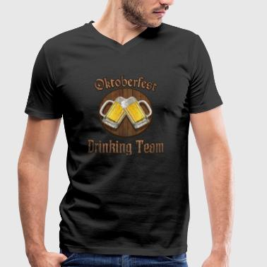 Peer Pressure Oktoberfest Drinking Team Beer Fest Celebration Alcohol - Men's Organic V-Neck T-Shirt by Stanley & Stella