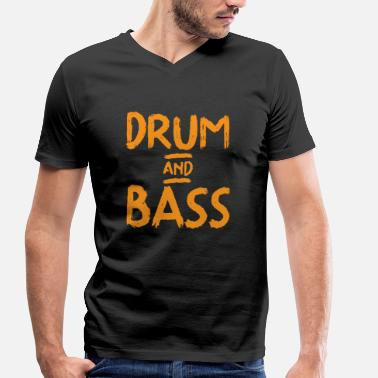 Bass Drum Drum and Bass - Men's Organic V-Neck T-Shirt by Stanley & Stella