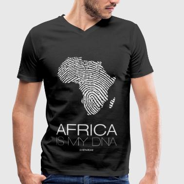 Africa is my DNA - Men's Organic V-Neck T-Shirt by Stanley & Stella
