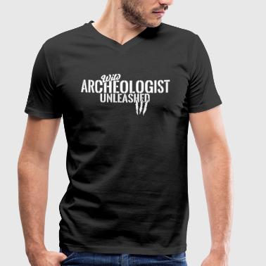 Wild archaeologist unleashed - Men's Organic V-Neck T-Shirt by Stanley & Stella