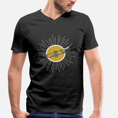 Trombone Brass Band Trumpet trombone brass band instrument gift - Men's Organic V-Neck T-Shirt by Stanley & Stella