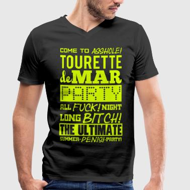 Tourettes Tourette de Mar - Party - Men's Organic V-Neck T-Shirt by Stanley & Stella